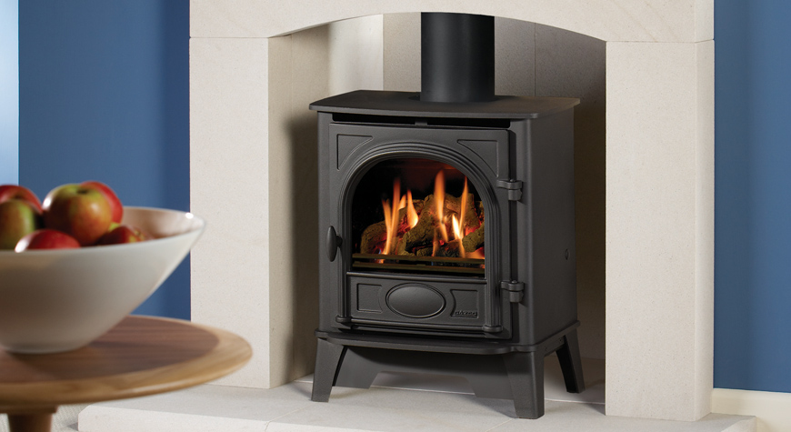 Gas stove - specially adapted version of the classic wood burning stoves